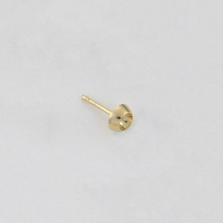 Ø6mm round ear post to PP31 strass