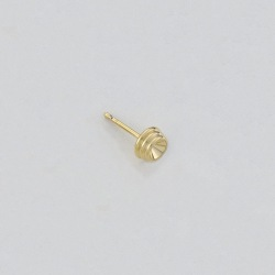 Ø6mm round ear post to PP27 strass