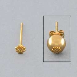 Ø3,8mm flower ear post to 6 to 8mm beads.