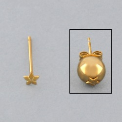 Ø3,8mm star ear post to 6 to 8mm beads.