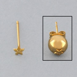 Ø3,8mm star ear post to 6 to 12mm beads.