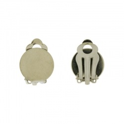 Ø 12mm flat base ear clip