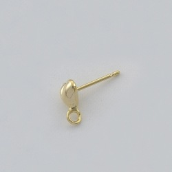 Ear stud Ø 4mm heart with loop