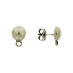 Round ear stud Ø 10mm with loop