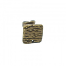Square ear stud 10x10mm with one hole
