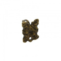 Rectangular ear stud 12x9mm with hole