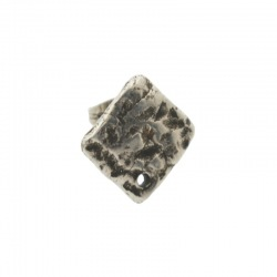 Rhombus ear stud 15x15mm with hole