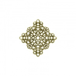 Square filigree metal component 22x22mm