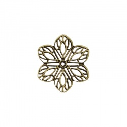 Flower metal component 23x23mm