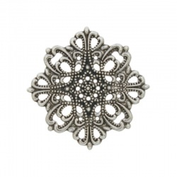 Square filigree metal component 41x41mm