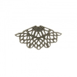 Fan shape filigree metal component 23x43mm