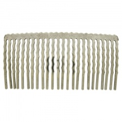 Metallic hair comb 78x38mm (24 spikes)