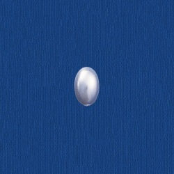 Oval pearl flat base 4x6mm