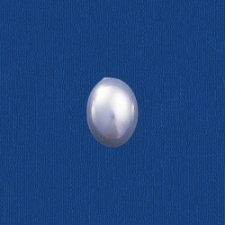 Oval pearl flat base 6x8mm
