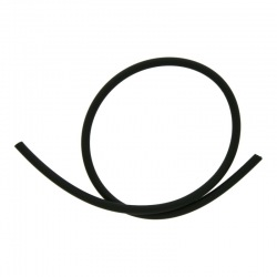 Matt black silicone tube outside Ø 2,5mm