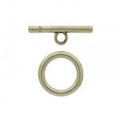 Toggle clasp Ø 20mm. Bar length 28mm