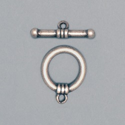 Toggle clasp Ø 19mm. Bar length 28mm