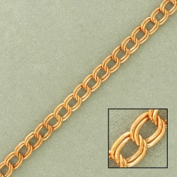 Double curb steel chain width 4,3mm