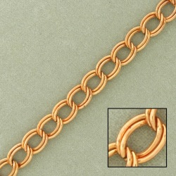 Double curb steel chain width 6,3mm
