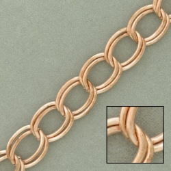 Double curb steel chain width 10,4mm