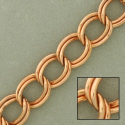 Double curb steel chain width 11mm