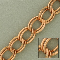 Double curb steel chain width 12mm