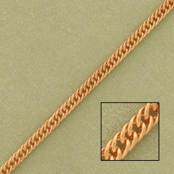 Double curb steel chain width 3,1mm