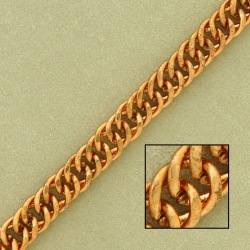 Double curb steel chain width 7,3mm