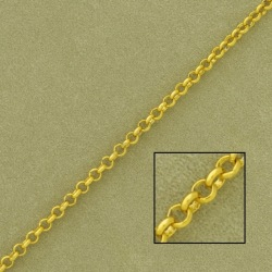 Belcher brass chain width 2,5mm. Welded links for better resistance.