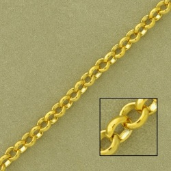 Belcher brass chain width 4,8mm. Welded links for better resistance.