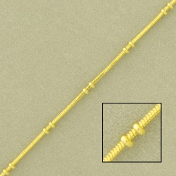 Snake brass chain width 1,1x1,1mm square