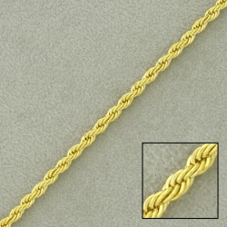 Rope brass chain width 2,5mm