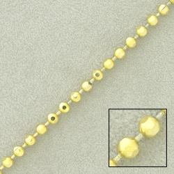 Ball brass chain diamond cut width Ø 3,2mm
