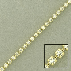 Brass chain strass SS8,5