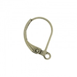 Earclip 18x12mm with open jump ring