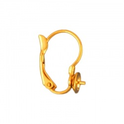 Earclip 18x14mm with cup Ø 6mm