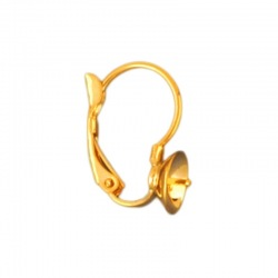 Earclip 18x14mm with cup Ø 8mm