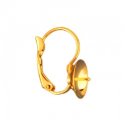 Earclip 18x14mm with cup Ø 10mm