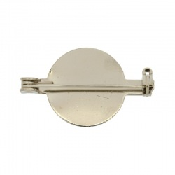 Bar pin round 26,5mm safety clasp