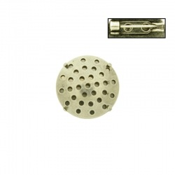 Brooch base with metal mesh Ø18mm