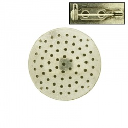 Brooch base with metal mesh Ø29mm