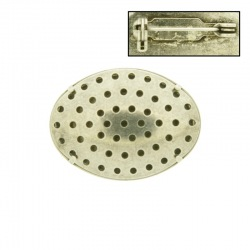 Brooch base with oval metal mesh 23x31mm