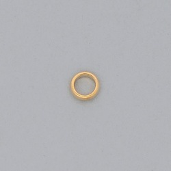 Brass ring Ø 8x1,5mm half round shape.