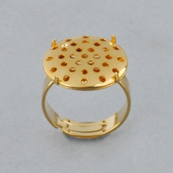 Adjustable ring with Ø 18mm flat base and metal mesh