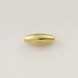 Metal bead 4,5x12mm. Hole Ø 1mm