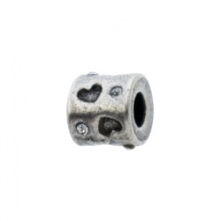 Metal bead 10x9mm. Hole Ø 4mm