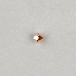 Metallize bead 7,5x8mm. Hole Ø 1mm