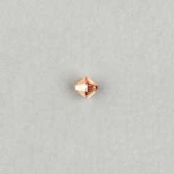 Metallize bead 6,5x7mm. Hole Ø 1mm