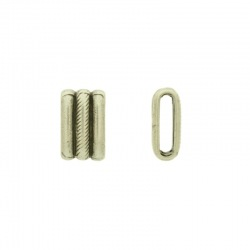 Slider bead 9x15mm. Hole 2x10mm