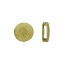 Slider bead Ø 16mm. Hole 2x10mm